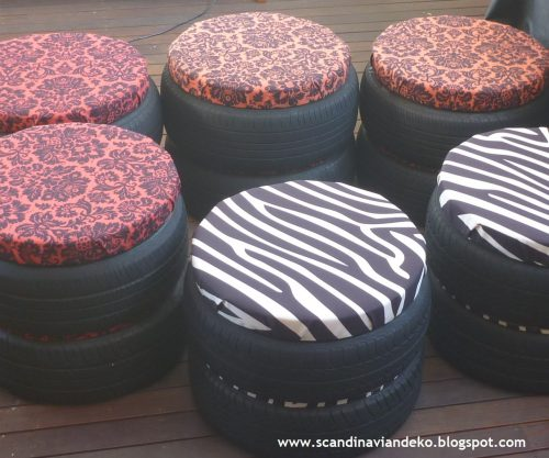 Pallet Home Recycled Tyre Stools Scancan