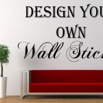 Personalised Wall Sticker Custom Vinyl Decal Design Your Own Quote Art