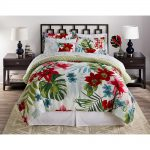 Piece Soft Floral Complete Bed Set Comforter King Queen Twin Duvet Cover