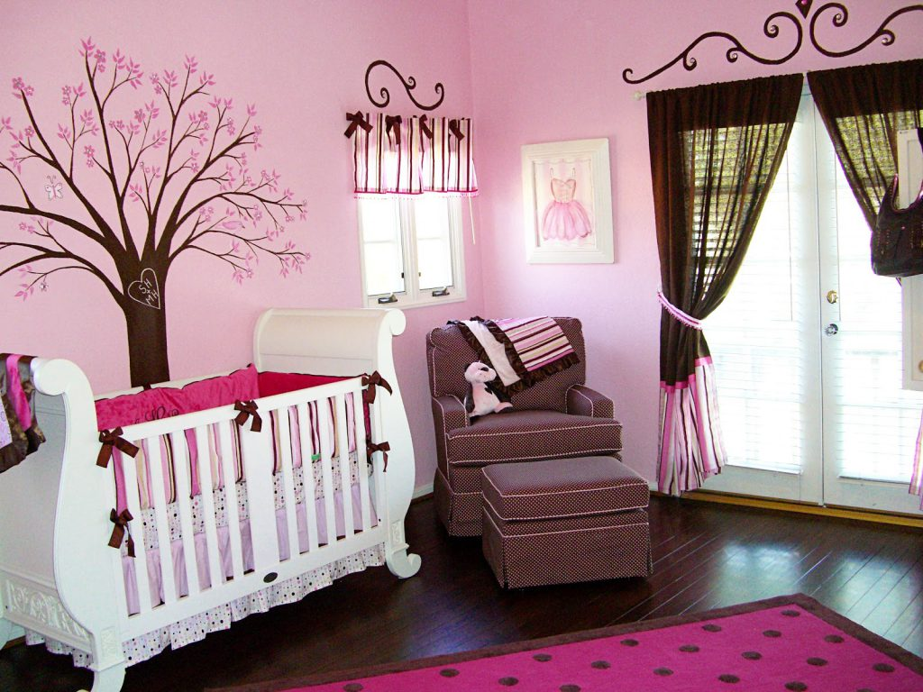 Pink Color Girl Baby Room Ideas