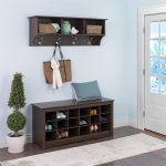 Prepac Entryway Shoe Storage Cubbie Bench Espresso