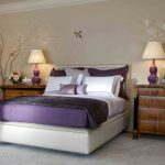 Purple Bedroom Decor Ideas Grey Wall White Accent Home Interior