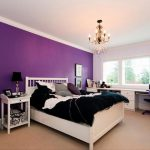 Purple Bedroom Wall Color Ideas White Furniture Home