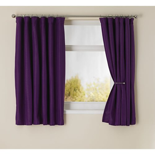 Purple White Curtains Renee Curtain Set Valance Tiebacks