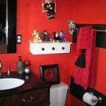 Red Black Bathroom Decor Decorating