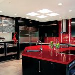 Red Black White Interiors Living Rooms Kitchens