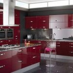 Red Kitchen Cabinets Traditional Design Ideas