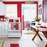 Red Kitchen Walls White Cabinets