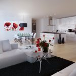 Red White Black Decor Interior Design