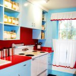 Red White Blue Kitchen Decor Simple Curtains