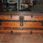 Refinished Antique Trunk Coffee Table Perfect