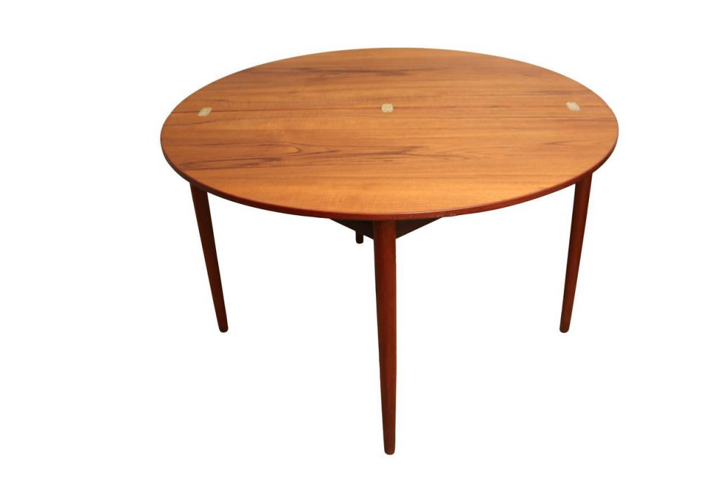 Round Teak Folding Dining Table Chairs Poul Volther Frem Rojle