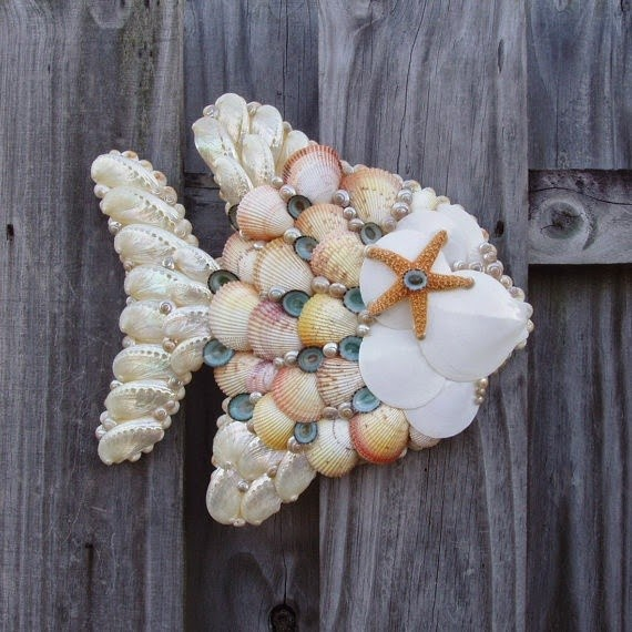 Seashell Craft Wall Hanging Decoration Ideas Art