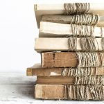 Set Unbound Vintage Books Wrapped Twine