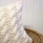Shipping Cable Knit Pillow Warm Winter White