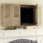 Shutter Wall Cabinet Traditional Entertainment Centers Stands Ballard