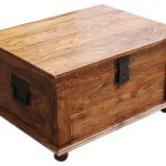Sierra Nevada Solid Wood Coffee Table Storage Trunk Rustic Decorative