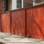 Simple Wood Fence Painted Red
