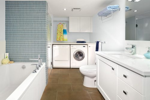 Small Bathroom Laundry Room Combo Interior Layout Design Ideas Home Improvement