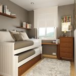 Small Room Design Double Loft Style Bed Narrow Beds