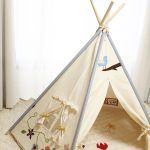 Soabe Blue Decoration Teepee Tent Flowers