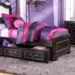 Sofia Vergara Kayla Black Twin Panel Bedroom Teen
