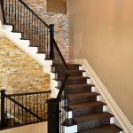 Stacked Stone Stairs Contemporary Staircase Denver Realstone