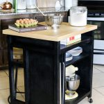 Steel Kitchen Island Wheels Floral Design