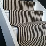 Striped Stair Runners Black White Red Many Other Colours