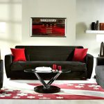 Stylish Red Black Living Room Decor White Sustainable