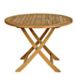 Three Birds Casual Cambridge Outdoor Round Folding Dining Table Atg