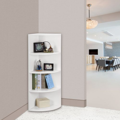 Tier White Wall Mounted Corner Shelf Storage Shelving Unit Organizer