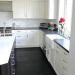Tiles Black Granite White Subway Tile Backsplash