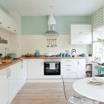 Traditional Kitchen Pastel Green Walls Decorating
