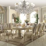 Traditional Luxury Dining Table Beige