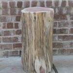 Tree Stump Side Table Log Decor End Seat