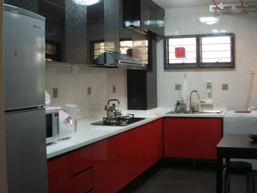 Unconventional Color Combination Kitchen Interior Designing