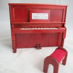 Upright Piano Bench Miniature Dollhouse Furniture Wooden