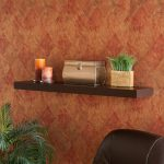 Upton Home Tampa Inch Espresso Floating Shelf Contemporary Display Wall