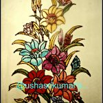 Usha Srikumar Musings Bunch Flowers Stained Glass