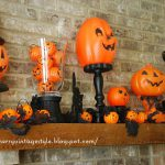 Very Merry Vintage Syle Cute Spooky Halloween Mantel