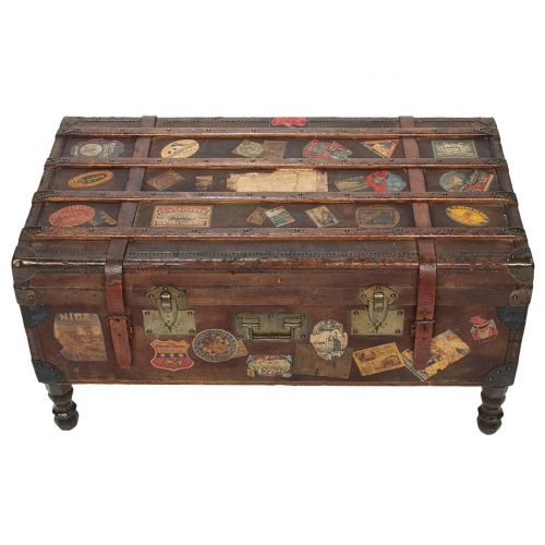 Vintage Travel Trunk Coffee Table Arthur Eymann Marseille France