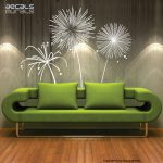 Wall Decal Fireworks Vinyl Shapes Modern Decor