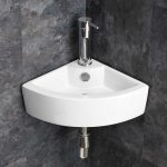 Wall Mounted Small Cloakroom Corner Basin Sink Bathroom Space Saving