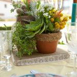 Wedwed Potted Plant Centerpieces Music