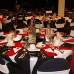 White Black Red Wedding Decor Handy