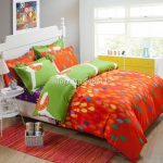Wholesale Orange Blue Fruit Modern Pattern Bedding Set Cotton Quilt Duvet Comforter