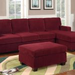 Wine Colored Sofa Sectional Set Poundex
