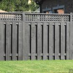 Wood Fence Painted Black