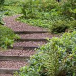 Wooden Outdoor Stairs Landscaping Steps Slope Natural